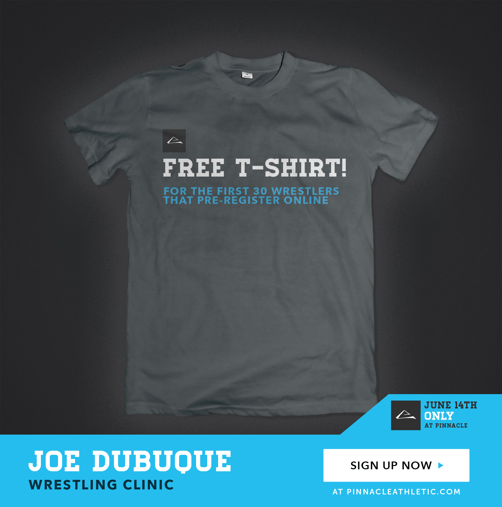 Preregister now and get a free t-shirt!